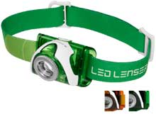 Ledlenser 880288 SEO3.2 LED Headlamp - 100 Lumens - Includes 3 x AAA Alkaline - Orange (880290) or Green (880287)