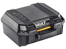 Pelican V100 Vault Small Hard Case - With Foam - Black