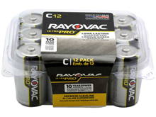 Rayovac Ultra Pro AL-C-12 1.5V Alkaline Button Top Batteries - 12 Pack