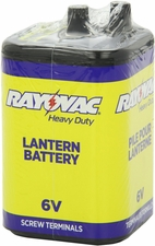 Rayovac 945R4C 9700mAh 6V Zinc Chloride (ZnCl) Heavy-Duty Lantern Battery with Screw Terminals - Shrink Pack