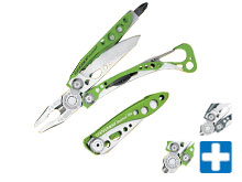 Leatherman Skeletool Multi-Tool & KB / KBx Pocket Knife Combo Pack - Black, Green, Denim or Stainless