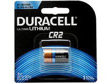 Duracell Ultra DL CR2 750mAh 3V Lithium  (LiMNO2) Button Top Photo Battery - 1 Piece Retail Card