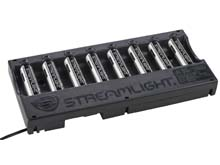 Streamlight 8-Bay 18650 Battery Bank Charger Kit - Includes 8 x 18650 - 12V DC with Bare Leads (20223) or 120V/100V AC (20224)