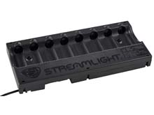 Streamlight 8-Bay 18650 Battery Bank Charger - 12V DC Cord with Bare Leads (20220) or 120V/100V AC Cord (20221)