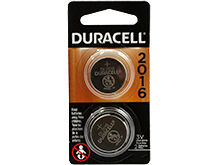 Duracell Electronics DL CR2016-B2PK 75mAh 3V Lithium Primary (LiMNO2) Watch/Electronic Coin Cell Batteries - 2 Pack Retail Card