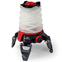 Princeton Tec Helix Basecamp Collapsible Lantern - Red and White LEDs - 250 Lumens - Includes 3 x AAs - Red/Black