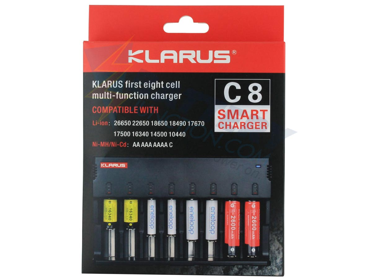 Packaging for Klarus C8 charger