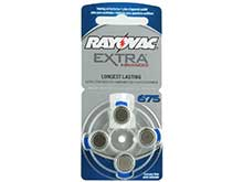 Rayovac 675AE (4PK) Size 675 1.45V Zinc Air Blue Hearing Aid Batteries - 4 Pack Retail Card (R-675QE-40 MF)