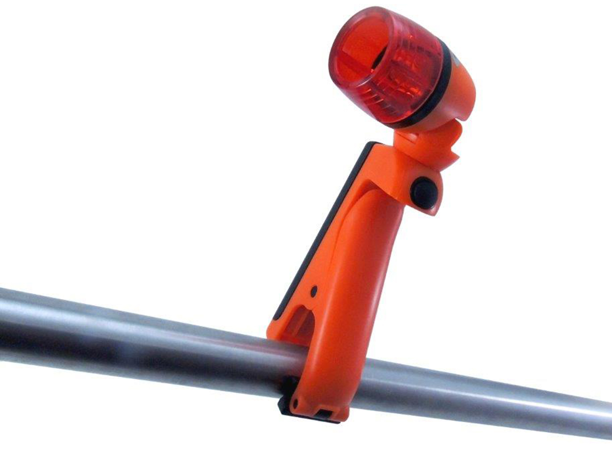 Blackfire Emergency Clamplight attached to a pole