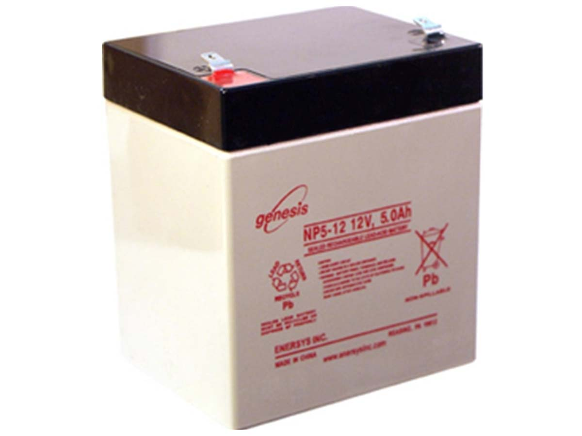 Enersys NP5-12T 5Ah 12V Rechargeable Sealed Lead Acid (SLA) Battery - F2 Terminal