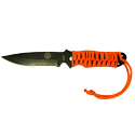 Ultimate Survival Technologies ParaKnife FS 4.0 Fixed Blade Knife with Paracord - 4-inch Partially Serrated - Includes Flint Fire Starter - Nylon Sheath - Orange (20-02232-08)