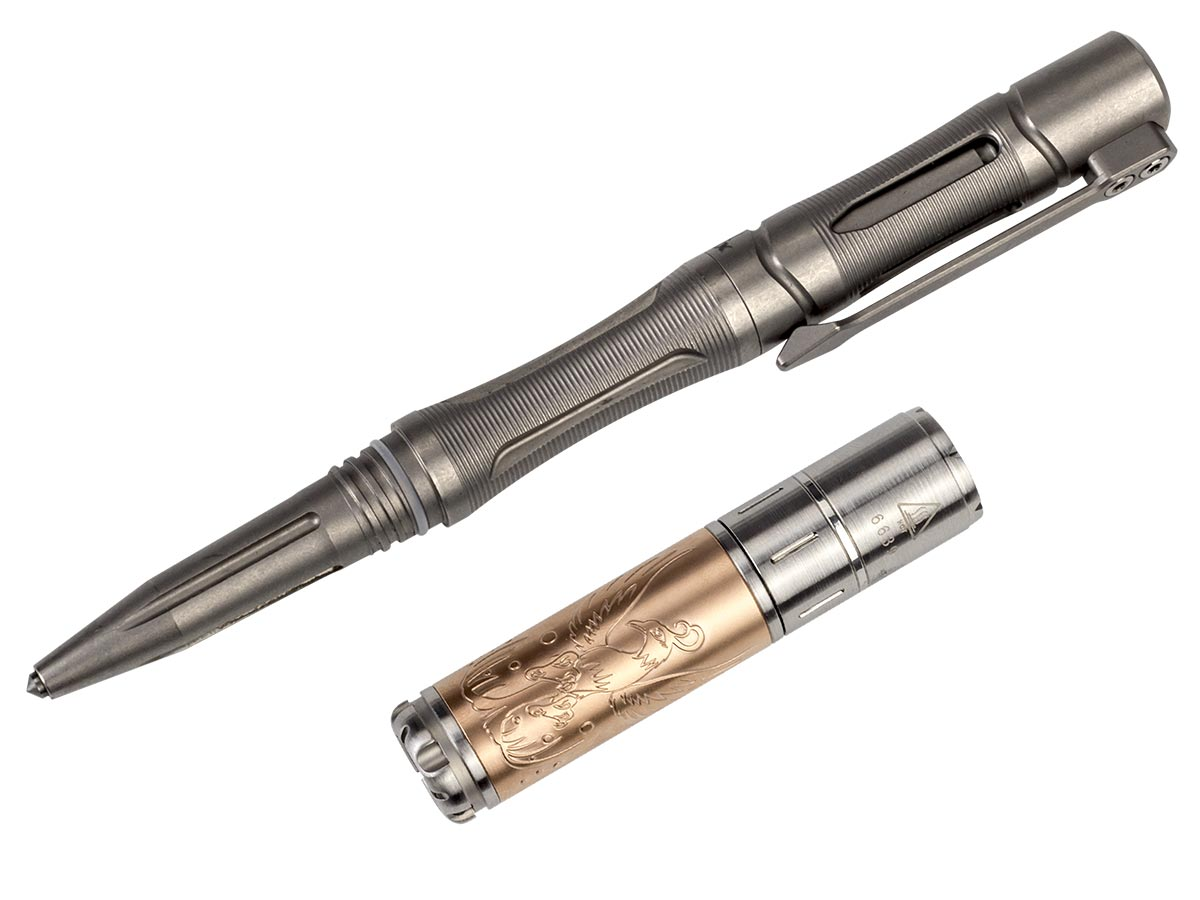 Fenix T5 tactical pen and flashlight set in space grey