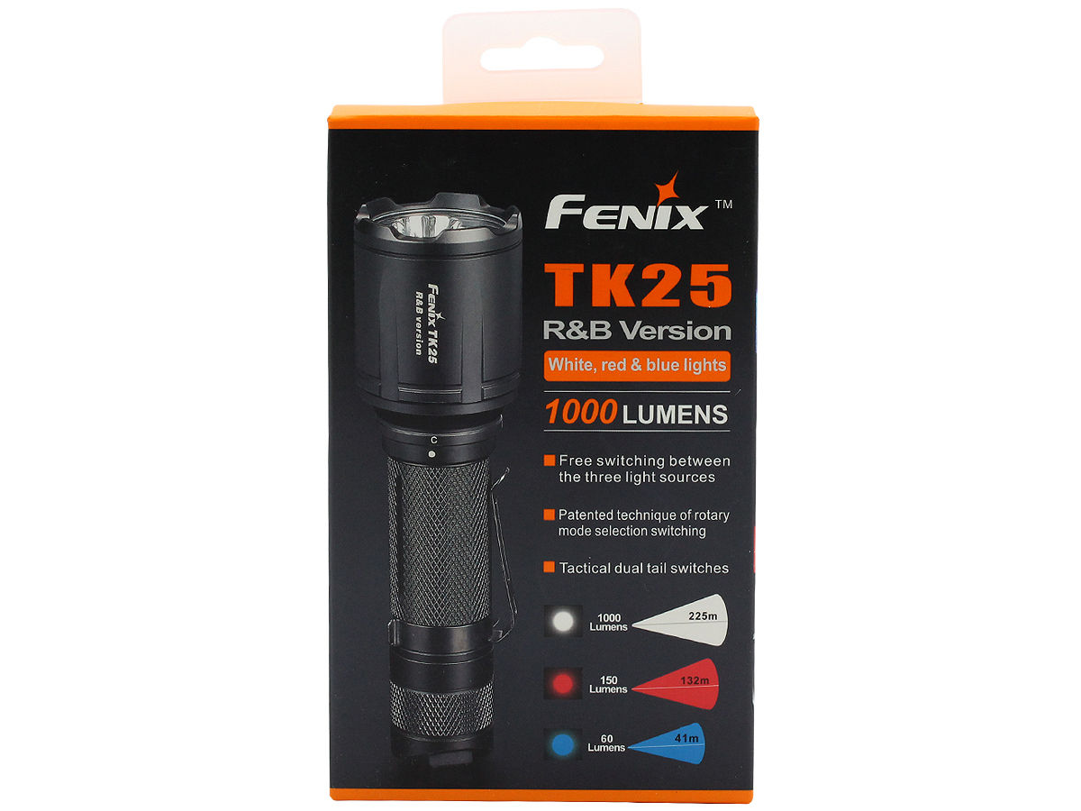 Package Shot of the Fenix TK25 RB