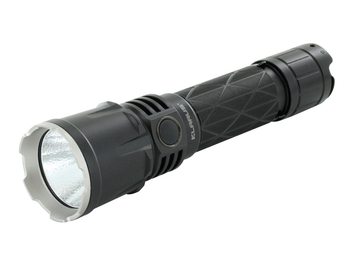 Klarus XT21X LED Flashlight at an angle