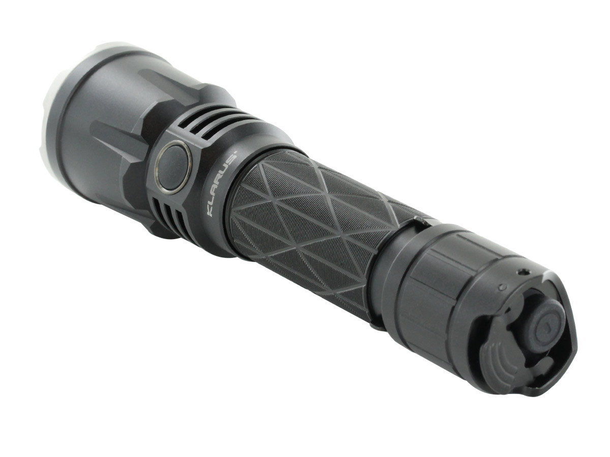 Klarus XT21X LED Flashlight tail cap view