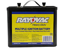 Rayovac 903C 23000mAh 7.5V Carbon-Zinc Lantern Batteries with Screw Terminals - Bulk
