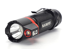 Striker BAMFF 6.0 Dual CREE LED Rechargeable Flashlight - 600 Lumens - Includes 1 x 18650