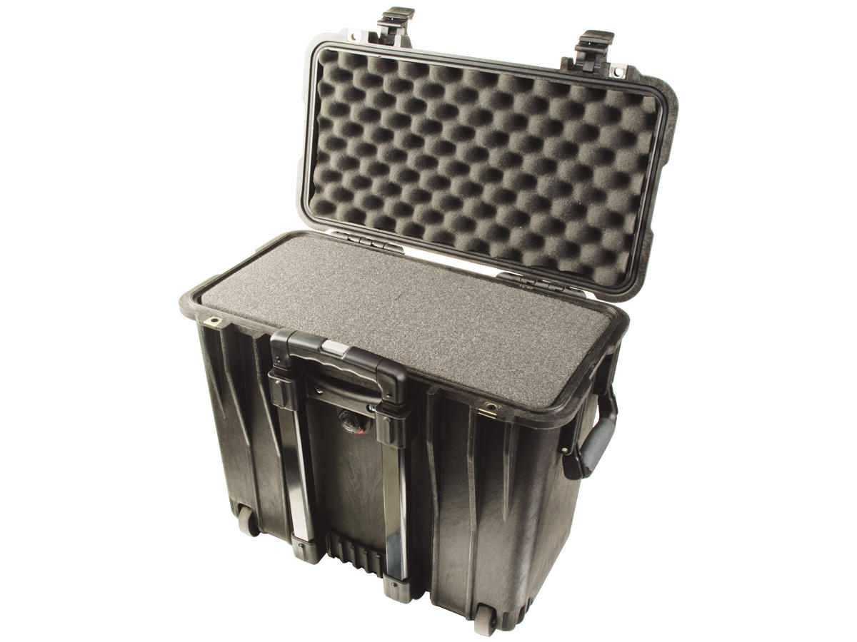 Open Shot of the Black Pelican 1440 Top Loader Case With its Foam Insert