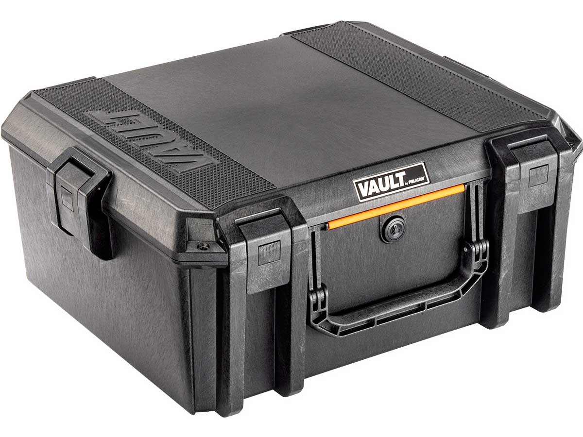 Pelican V600 Vault Large Equipment Case Closed Angle