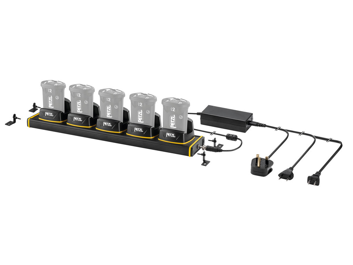 petzl charging rack with accu 2 batteries