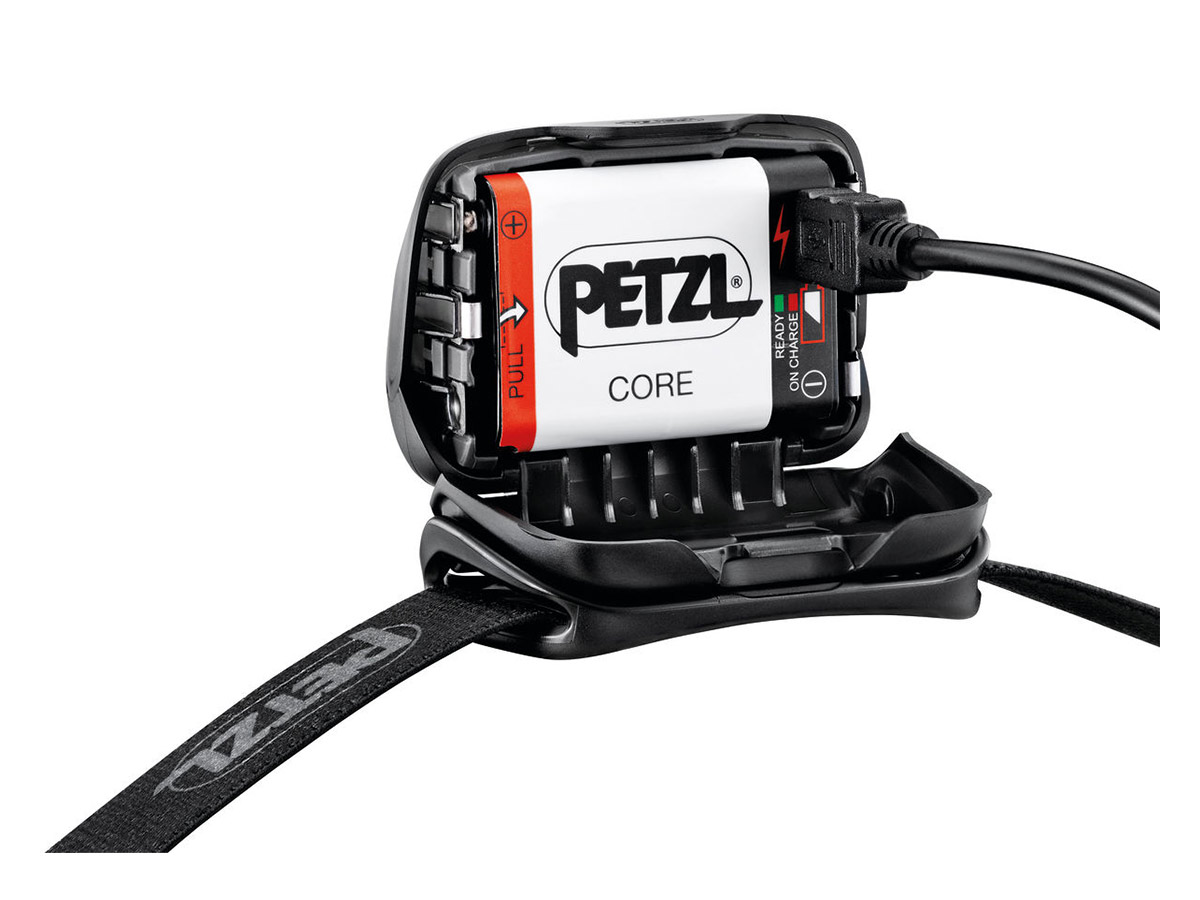 petzl core headlamp side view