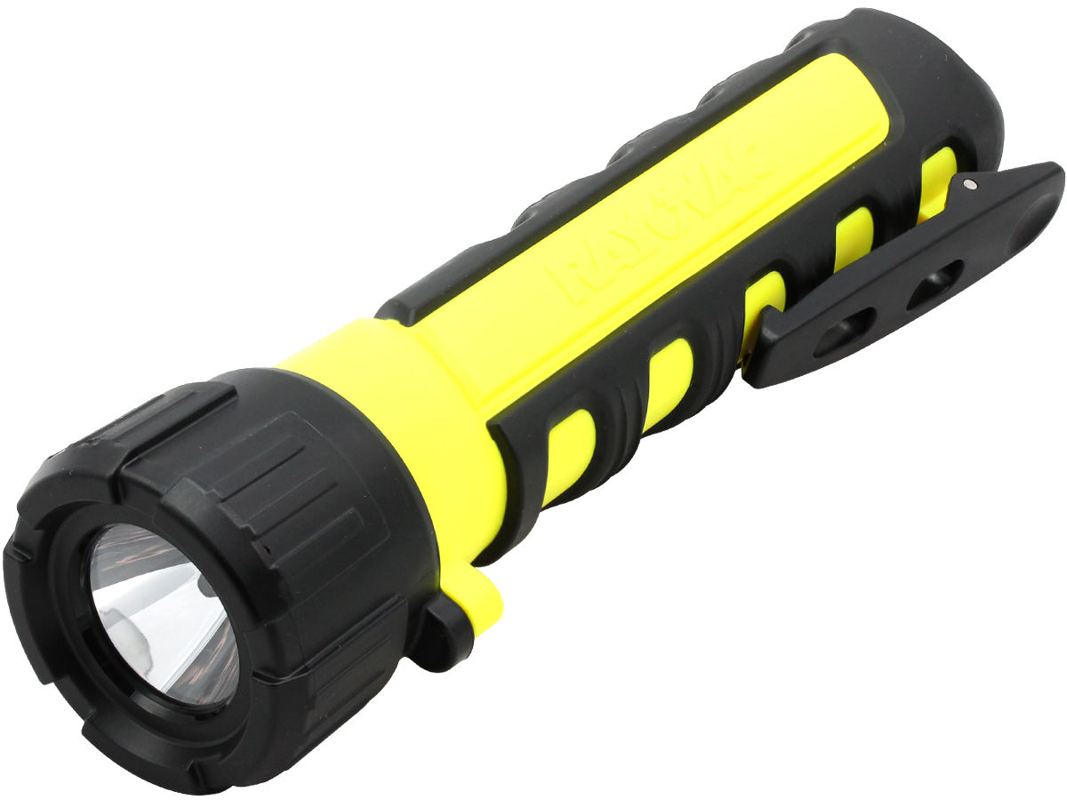 Angle Shot of the Rayovac Industrial Pro-Grip LED Flashlight
