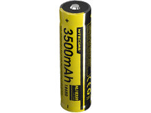 Nitecore NL1835R 18650 3500mAh 3.6V Protected Lithium Ion (Li-ion) Button Top Battery with Built In Micro-USB Charging Port