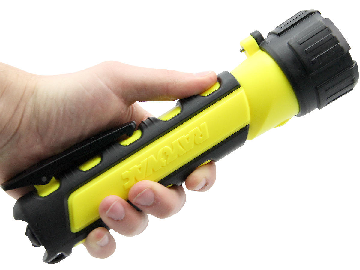 In-Hand Shot of the Rayovac Industrial Pro-Grip LED Flashlight