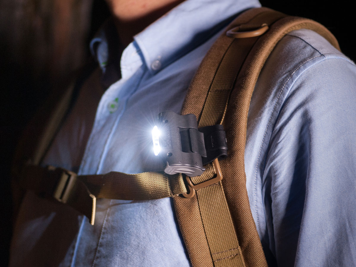 Nextorch UL10 Clip Light Attached to Backpack Strap