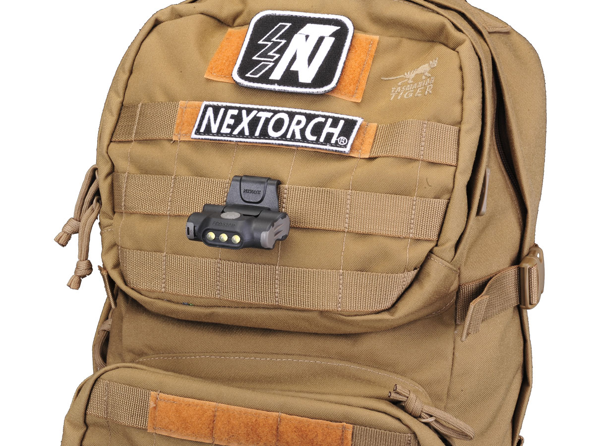Nextorch UL10 Clip Light Attached to MOLLE System
