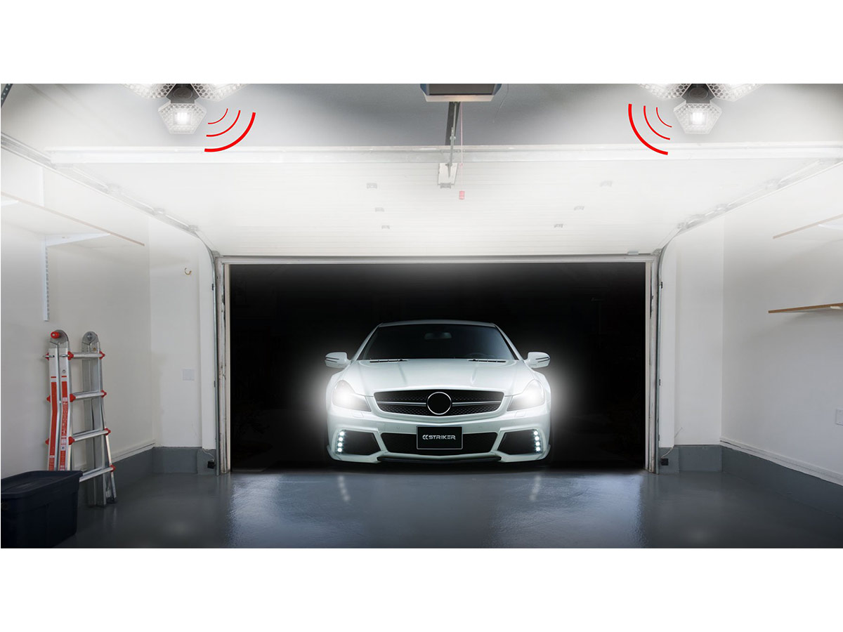striker garage light, car pulling into garage and the sensor picks it up and turns on the lights