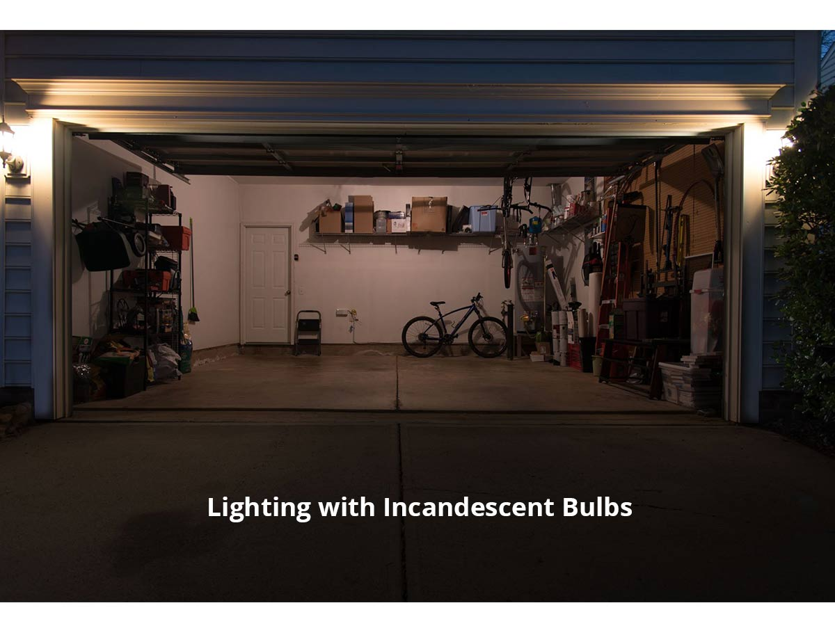 striker garage light, example of incandescent lighting