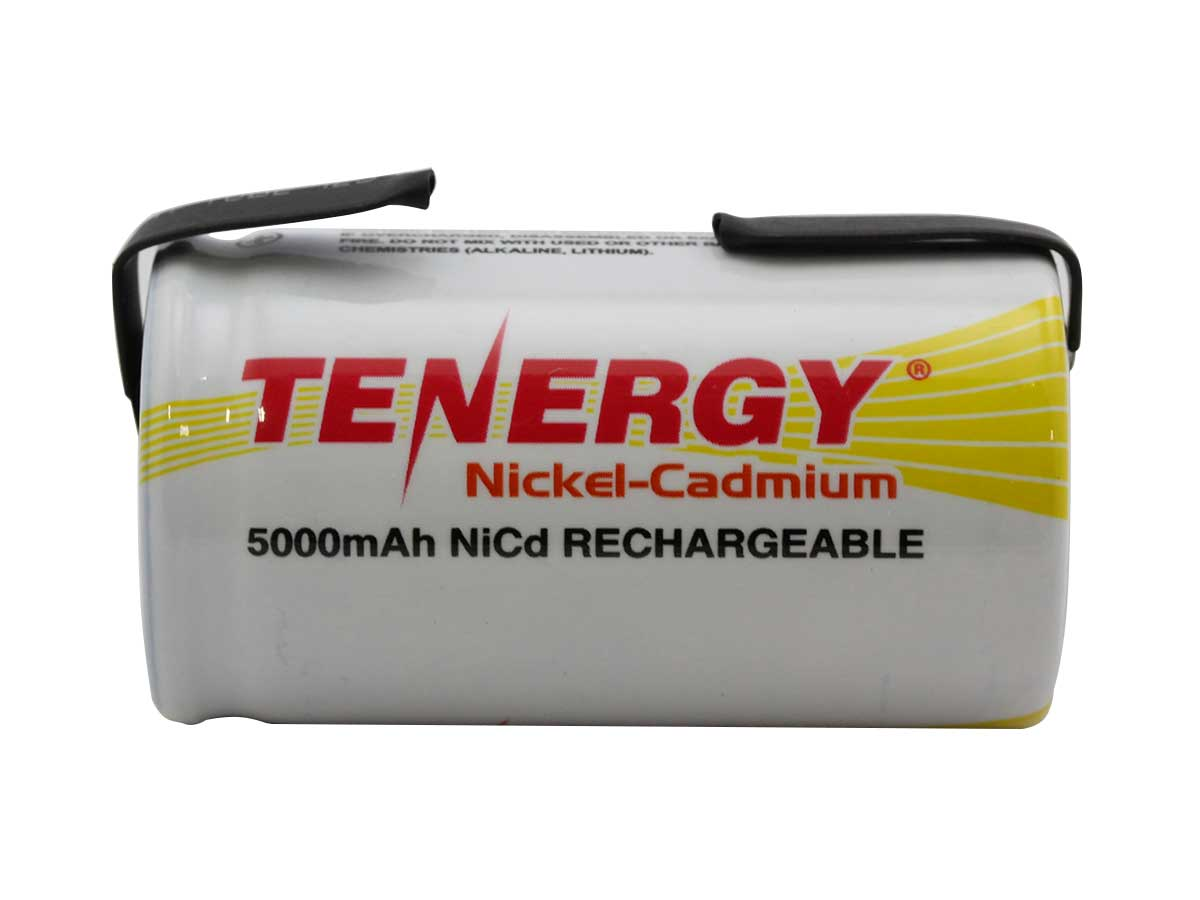 Tenergy D NiCD With Tabs side
