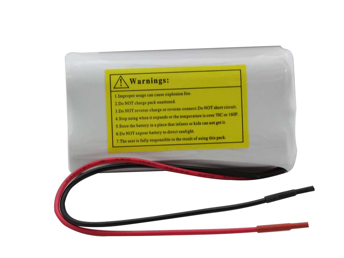 Tenergy 31003 Li-Ion battery Pack Side