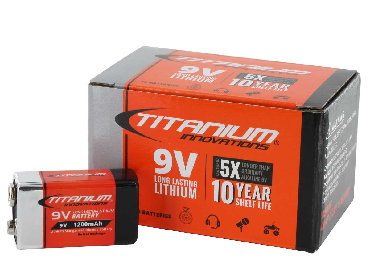 Titanium Innovations 9V Battery 10 Pack