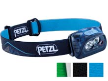 Petzl Actik Headlamp E099FA - Multicolor Options - 350 Lumens - Includes 3 x AAA