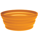 Ultimate Survival Technologies FlexWare Bowl 1.0 - Heat-Resistant Silicone - 2.25 x 5.5-inch Collapsible Dish - Orange (20-02076-08)