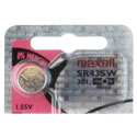Maxell SR43SW 301 125mAh 1.55V Silver Oxide Button Cell Battery - Hologram Packaging - 1 Piece Tear Strip, Sold Individually