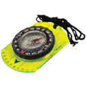 Ultimate Survival Technologies Hi Vis Waypoint Map Compass with Measuring Scales and Breakaway Lanyard (20-12130)