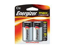 Energizer Max E93-BP-2 C-cell Alkaline Button Top Battery - 2 Piece Retail Card