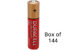 Duracell Quantum QU2400 (144PK) AAA 1.5V Alkaline Button Top Batteries - Contractor Pack of 144