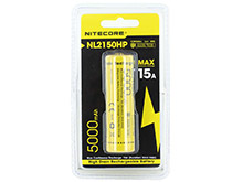 Nitecore NL2150HP High Performance 21700 5000mAh 3.6V 15A Protected Lithium Ion (Li-ion) Button Top Battery