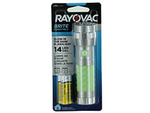 Rayovac Value Bright Glow-in-the-Dark 14-LED Flashlight - 18 Lumens - Includes 3 x AAAs - Color May Vary (BRS14LED-BA)
