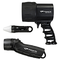 Princeton Tec Reef Pack Dive Light Kit - with Sector 5, League 100 and AMP 1 LC Dive Lights - Black, Blue, Yellow or Pink