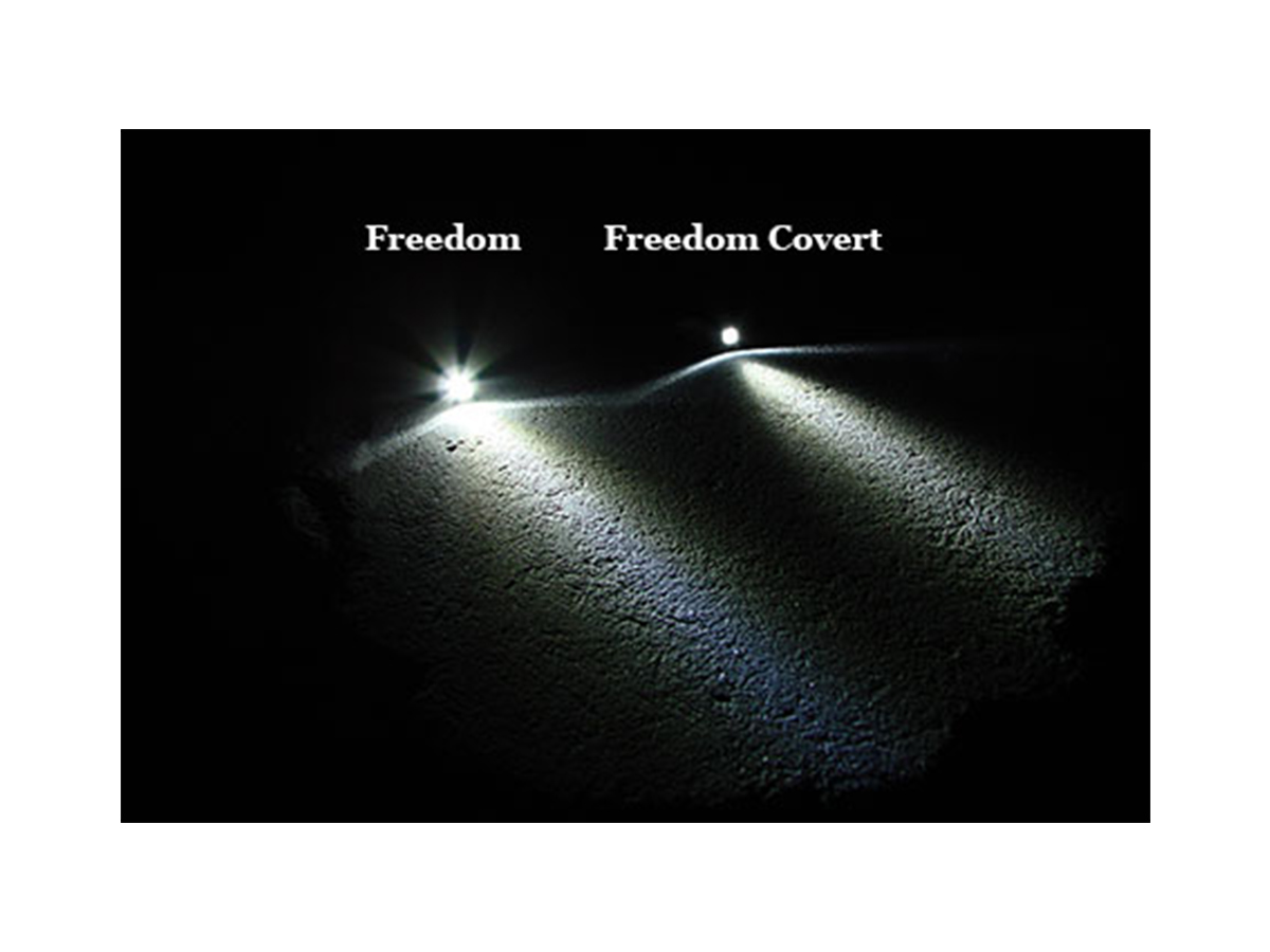 Photon Freedom Micro Infrared Keychain Light beam pattern difference between noses