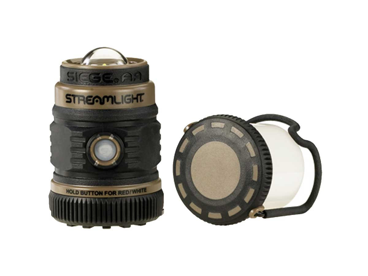 Streamlight lantern with the top cover pulled off