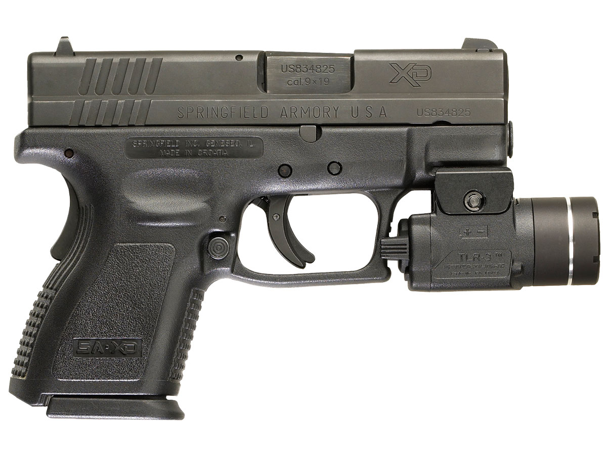 Streamlight TLR-3 Mounted on XD Handgun