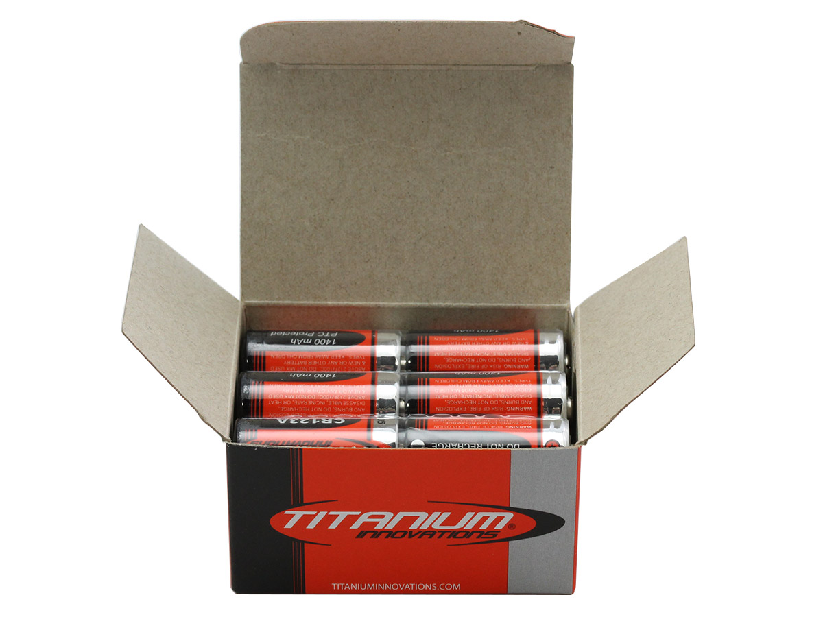 Titanium CR123A 3V Lithium Battery - 12 Pack open box