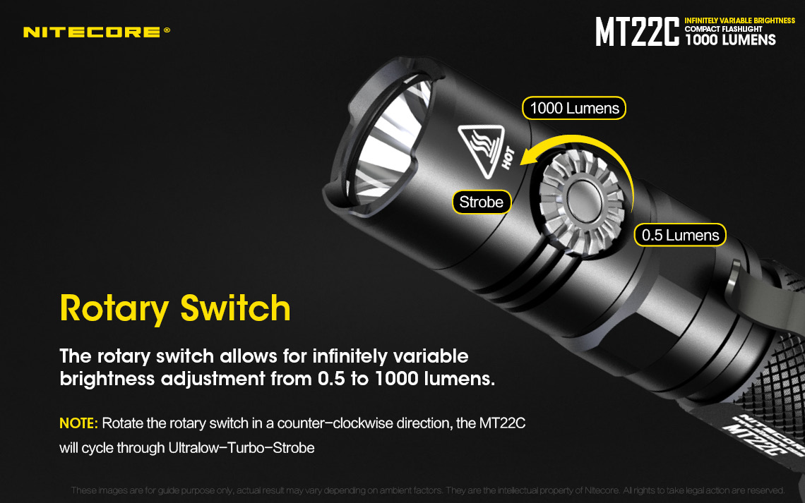 Nitecore MT22C rotary switch