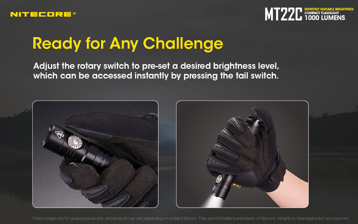 Nitecore MT22C adjustable